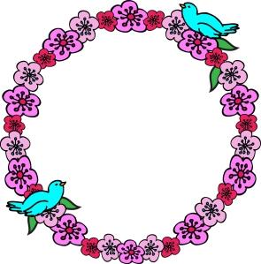 CherryBlossomFlowerWreathBirds