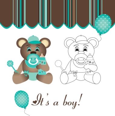 BabyBearBoyMarkerArtBallons