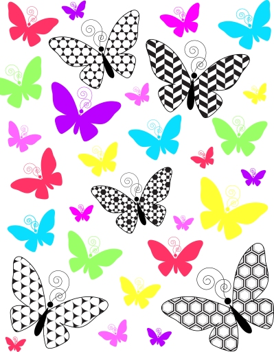 ButterflyMarkerArtCollage