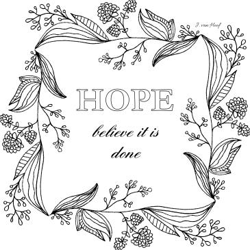 HOPEItisdoneMarkerArtFloralVine
