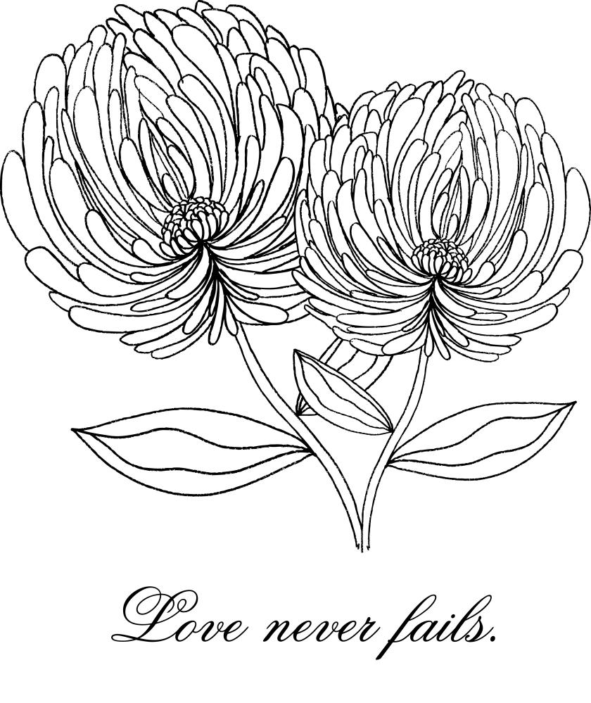 LoveNeverFailsFlowerMarkerArt