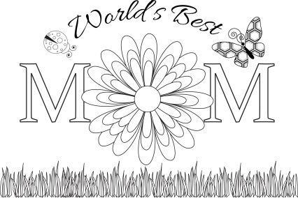 mothersdaycardladybug free adult coloring pages mothersdaycoloringcard - Mothers Day Coloring Pages Free