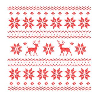 knitreindeersnowflakechristmaspattern